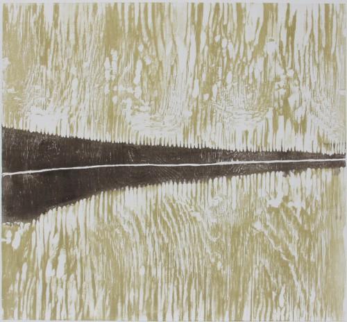 Andersön I, träsnitt, 45x38 cm, 2013