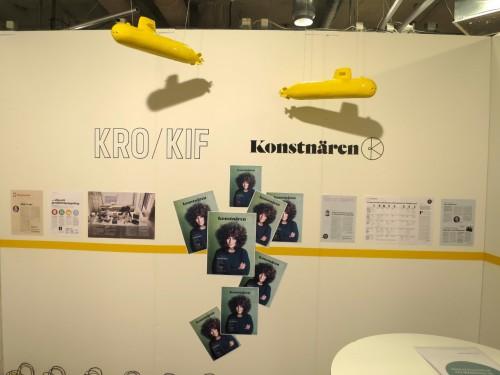 Jag fick äran att ställa ut ubåtar i KRO KIF monter på Konstfack Stockholm 2016.